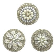 Decorative Beaded Orbs - Set of 3