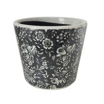 Vintage Pattened Plant Pot - Flower