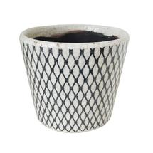 Vintage Pattened Plant Pot - Fishnet
