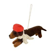 Felt Sausage Dog avec Beret