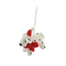 Mini Felt Dalmatian Christmas Decoration