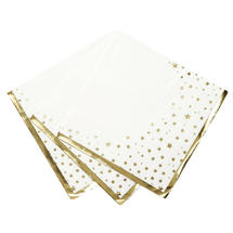 Star Edged Paper Napkins-Cream and Gold