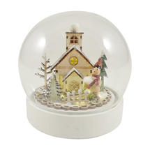 LED Globe with Alpine Lodge Scene