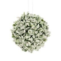 Frosted Hanging Boxwood Ball - Small
