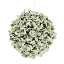 Frosted Hanging Boxwood Ball - Large