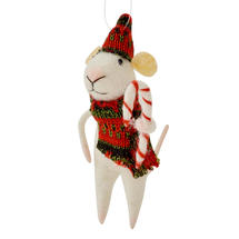 Candy Cane Mice - Red Scarf