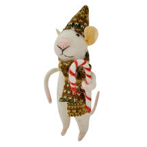 Candy Cane Mice - Brown Scarf