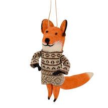 Fairisle Foxes - Brown Jumper