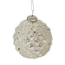 Diamond Pattern Hanging Baubles - Sequined