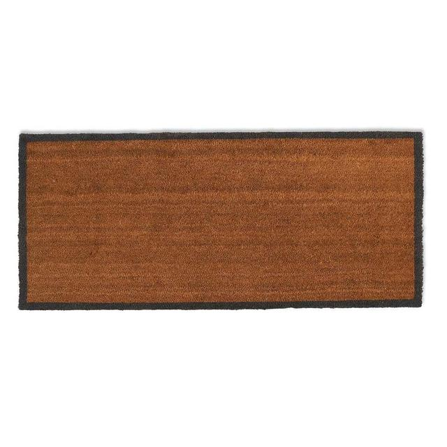 Buy Coir Double Doormat With Charcoal Border The Worm