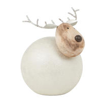 Round Metal Reindeer - Large