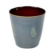 Small Ceramic Cup - Smokey Blue/Burnt Red