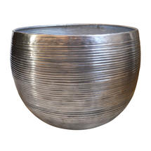 Planters in Aluminium Ribbed Finish - Large