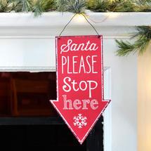 Santa Stop Signs - Red