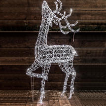 2M Standing Deer with 400 White LEDs