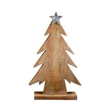 Wooden Trees topped Metal Star - 50cm