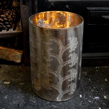 Over-sized Burnished Hurricane Lantern