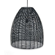 Wicker Indoor Pendant Light Shade - Black