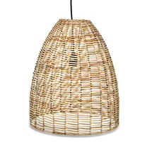 Wicker Indoor Pendant Light Shade  - Natural