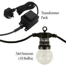 Extendable Warm White Clear Festoon Light Starter Set -10 bulbs* + Transformer