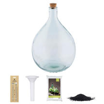 Complete Bottle Terrarium 15L set