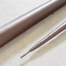 Pair of Soft Sheen Bronze Taper Candles 42cm