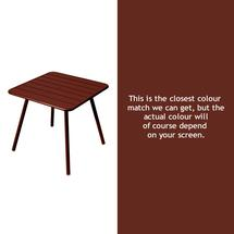 Luxembourg Square Table with 4 legs - Red Ochre
