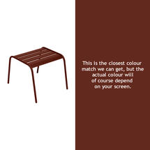 Monceau Low Table / Footrest - Red Ochre