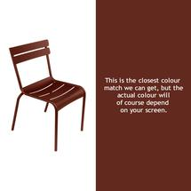Steel Luxembourg Chair - Red Ochre