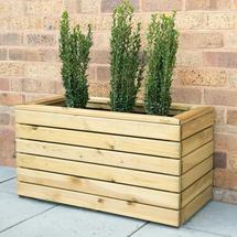 Linear Wooden Planter - Small Trough