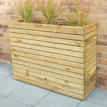 Linear Wooden Planter - Medium Trough