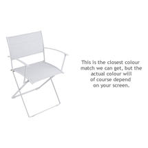 Plein Air Folding Armchair - Cotton White