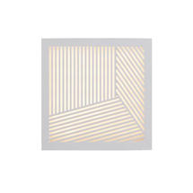 Maze Square Straight Lines Light - White
