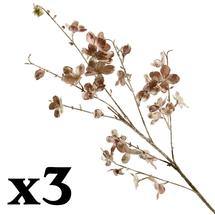 Glittered Taupe Blossom Stem - 3 for 2