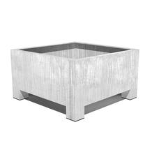 Galvanised Square Planter with feet - XLarge