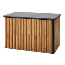 Combine cushion box small - Teak, Lava grey