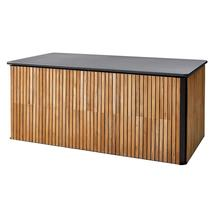 Combine cushion box large - Teak, Lava grey