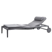 Conic Airtouch Sun Lounger with Cushion- Light Grey