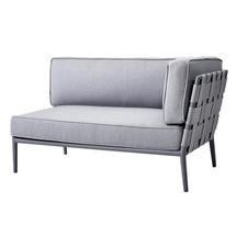 Conic Airtouch 2 Seater Sofa Left Unit - Light Grey