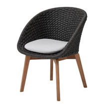 Peacock Rope Chair with Teak Legs - Dark Grey