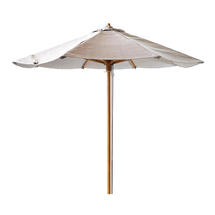 Classic parasol w/pulley system, dia. 2,4 m - Light grey