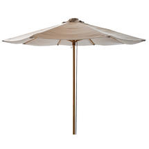 Classic parasol w/pulley system, dia. 3 m - Light grey