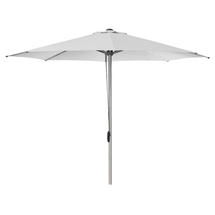 Eclipse parasol w/pulley system - Silver/white
