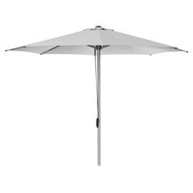 Eclipse Parasol with Pulley System - Silver / Light Grey
