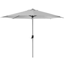 Sunshade parasol w/crank system, dia. 3 m - Silver/light grey