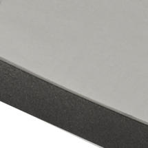 Drop Cafe Square Table - Grey HPL Top with Lava Grey Edging
