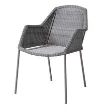 Breeze Dining Armchair Stackable - Light Grey