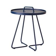 On-the-move side table small - Midnight blue