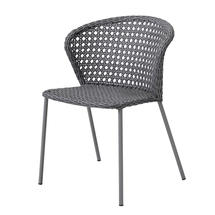 Lean Chair - Light Grey French Weave