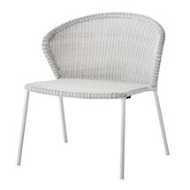 Lean lounge chair, stackable - White grey